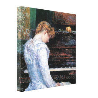 Childe Hassam - The Spanish steps Canvas Print