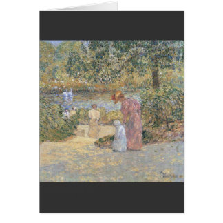 Childe Hassam - The staircase at Central Park Card