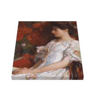 Childe Hassam Victorian chair CC0192 Impressionist Stretched Canvas Prints