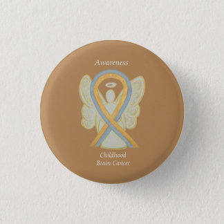 Childhood Brain Cancer Angel Awareness Ribbon Pins