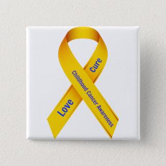 Childhood Cancer Awareness Badge 2 Inch Square Button
