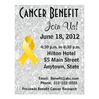 Childhood Cancer Awareness Benefit  Floral Flyer