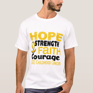 Childhood Cancer Awareness HOPE 3 T-Shirt