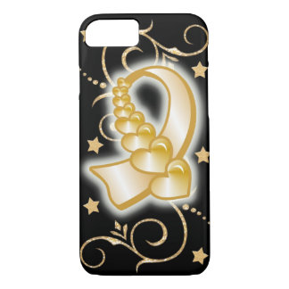 Childhood cancer awareness in gold cell phone case