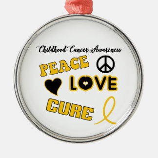 Childhood Cancer Awareness Silver-Colored Round Ornament