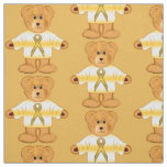 Childhood Cancer Awareness with Teddy Bear Fabric