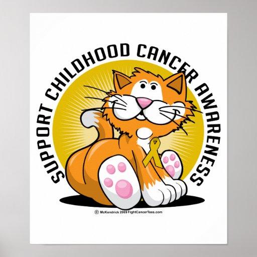 Childhood Cancer Cat Poster