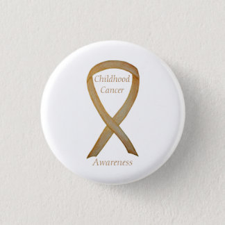 Childhood Cancer Custom Gold Awareness Ribbon Pins