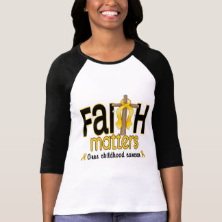 Childhood Cancer Faith Matters Cross 1 T-Shirt