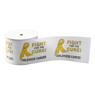 "Childhood Cancer Fight for the Cure 3"" Grosgrain Ribbon"