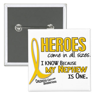 Childhood Cancer Heroes All Sizes 1 Nephew 2 Inch Square Button