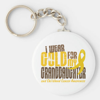 Childhood Cancer I WEAR GOLD FOR MY GRANDDAUGHTER Keychain