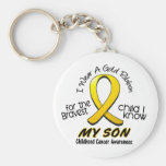 Childhood Cancer I Wear Gold Ribbon For My Son Key Chains