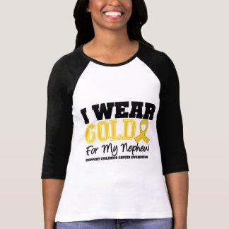 Childhood Cancer I Wear Gold Ribbon Nephew T-shirt