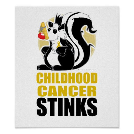 Childhood Cancer Stinks Print