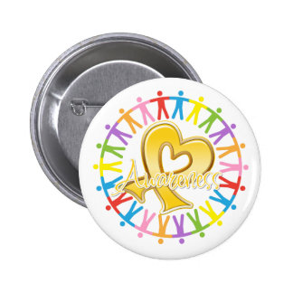Childhood Cancer Unite in Awareness 2 Inch Round Button