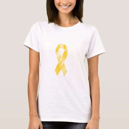 Childhood Cancer Yellow Ribbon T-Shirt