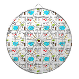 Childhood Map Dartboard