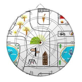 Childhood Map Dartboard