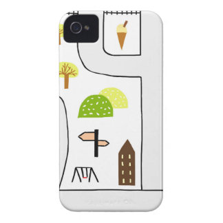 Childhood Map iPhone 4 Case-Mate Case