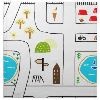 Childhood Map Napkin