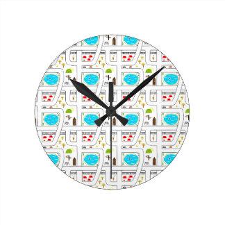 Childhood Map Round Clock
