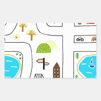 Childhood Map Sticker