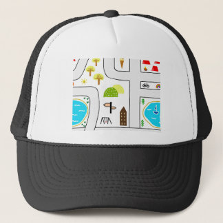 Childhood Map Trucker Hat
