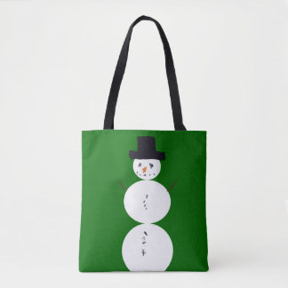 Childhood Snowman Tote Bag