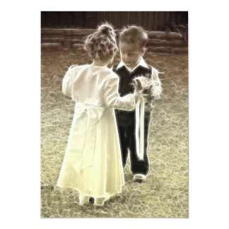 Childhood sweethearts blank Wedding Invitation