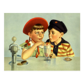 Childhood Sweethearts Postcard