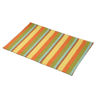 Childhood Vacation Palette Stripe Placemat