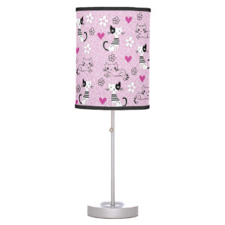 Childish Abajur with Print of Good looking Table Lamp