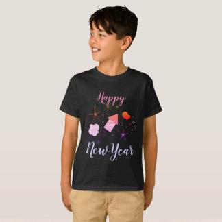 Childish Black t-shirt Happy New Year 2018