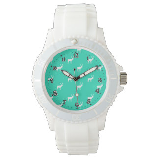 Childish Feminine White Silica clock Livens up Watches