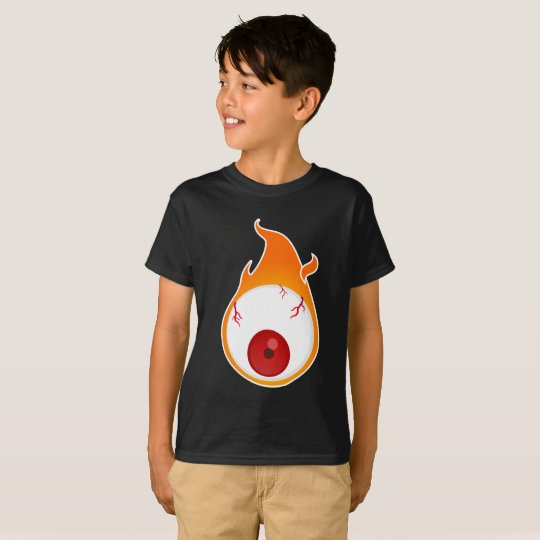childish flaming eye T-Shirt