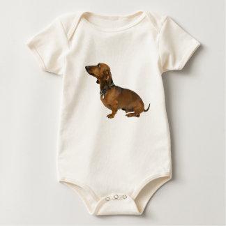 Childish overalls dachshund bodysuit