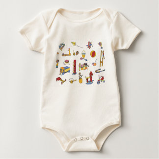 Childish overalls - Toys Backward Baby Bodysuit