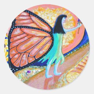 Childlike Wonder Butterfly Round Sticker