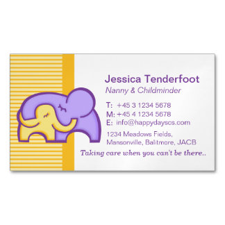 Childminder/ baby sitter carer hug business cards