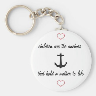 Children Anchor Mothers Keychain