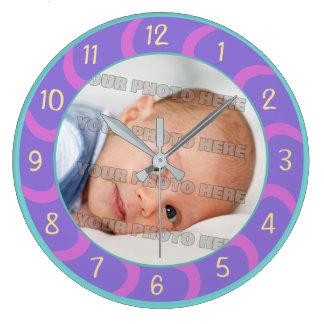 Children and Baby Custom Large Clock