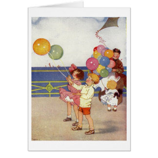 Children and Balloons, Card