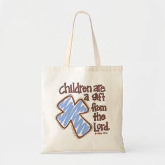 """""""Children are a gift from the Lord"""" Psalm 127:3 Tote Bag"""