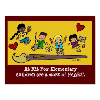 Children are a Work of HeART Poster