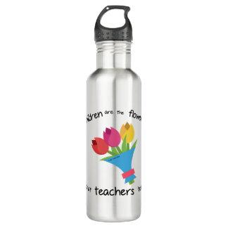 Children are the Flowers Custom Water Bottle