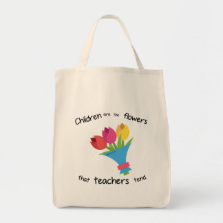 Children are the Flowers grocery tote