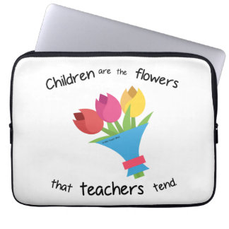 Children are the Flowers laptop sleeve