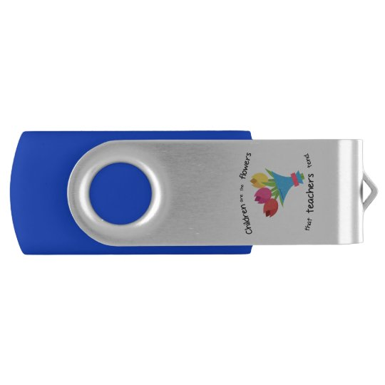 Children are the Flowers two tone USB Swivel USB 2.0 Flash Drive