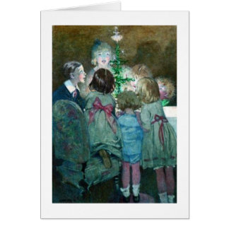 Children Around a Christmas Tree, Card